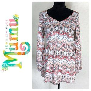Show Me Your Mumu - Long Sleeve Printed Dress